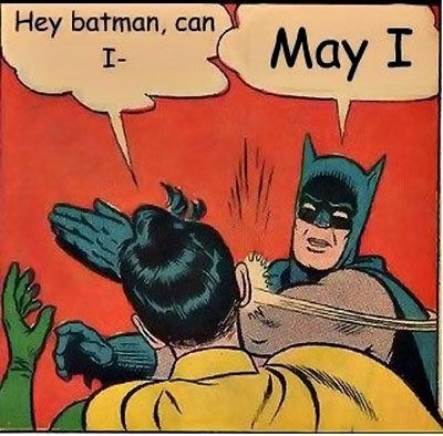 Learn grammar to avoid being slapped in the face by Batman.
