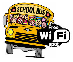 All aboard the free WiFi bus!