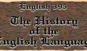 History of the English Language - part 1