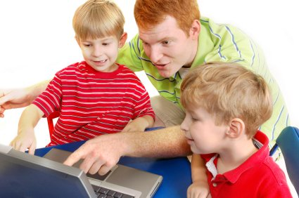 Parents and kids learning together