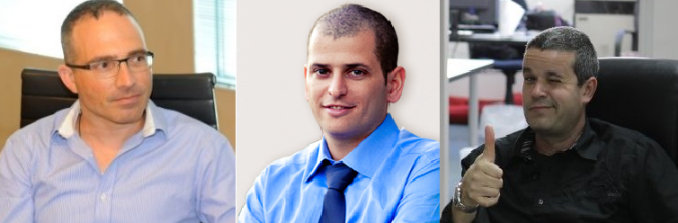 The management team at whitesmoke. From left to right, Itay Meroz CEO, Guy Harel CFO, and Amit Greener COO.