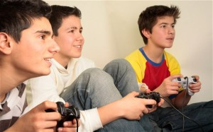 Kids learning with video games