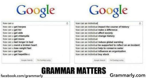 """""""Grammar Matters"""""""