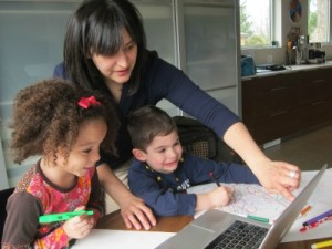 Homeschooled students making use of technology