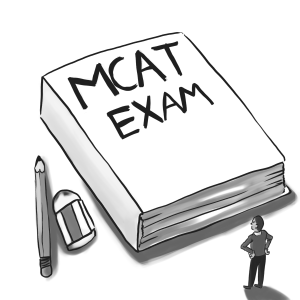 Taking the MCAT exam