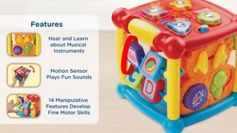 busy learners activity cube vtech