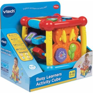VTech Busy Learners Activity Cube in box