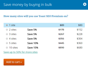 prices for yoast seo tool premium